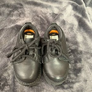 Little boys black dress shoes